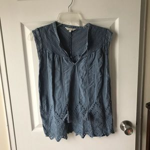 🍀 Lucky Brand Top - Jean Material- Size S